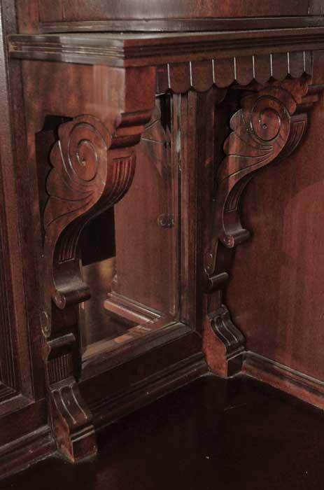 Deluxe 16-Foot Mahogany Canopy Pub Bar