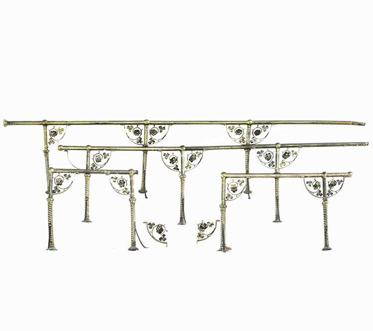 Brass Railing, with Brackets