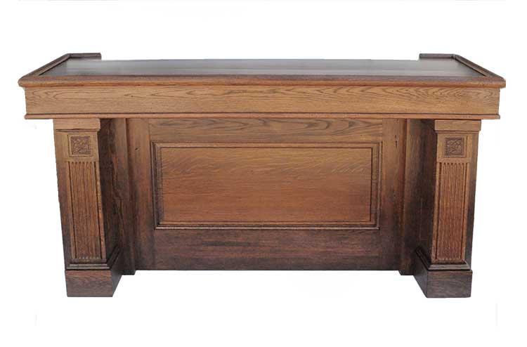 7-Foot Oak Front Bar
