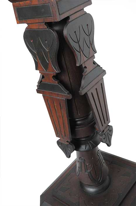Fine-Art Walnut Pedestal, with Ebonized Accents