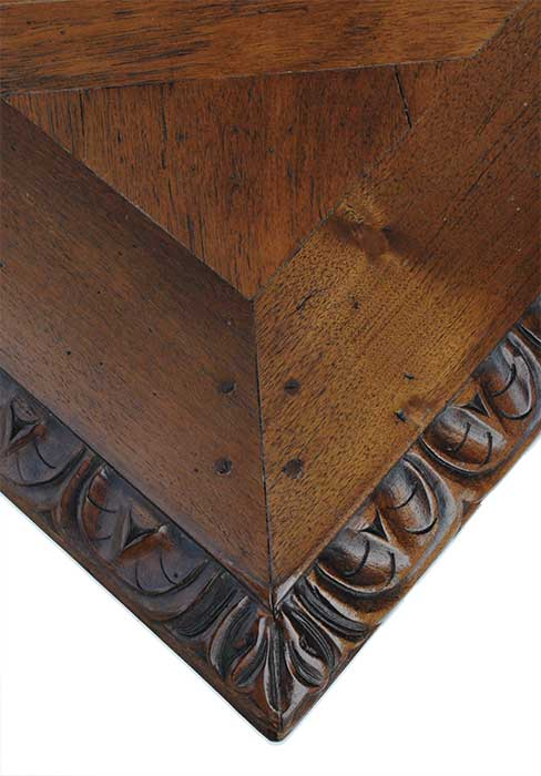 French Carved Figural Walnut Table, Circa 1880s