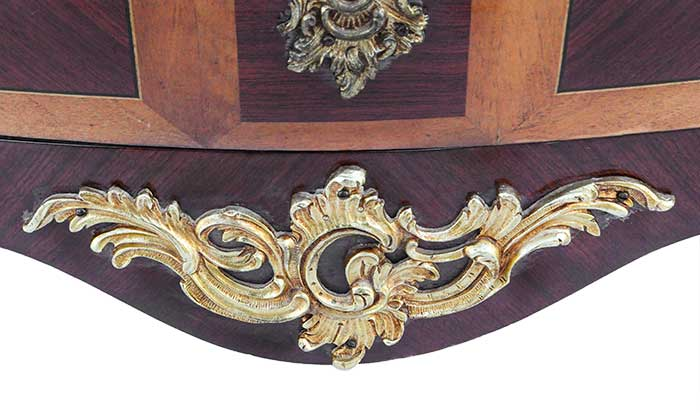 Louis XV-Style French Commode, with Marble Top & Filigree