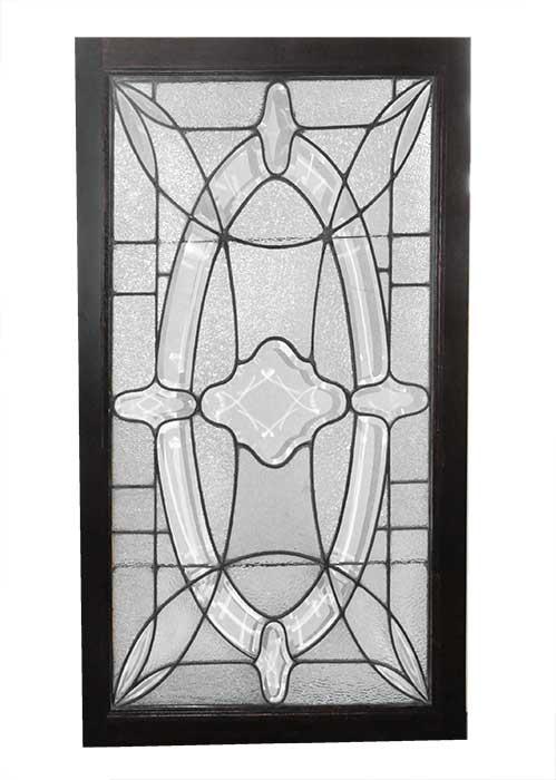 Beveled & Textured Glass Window