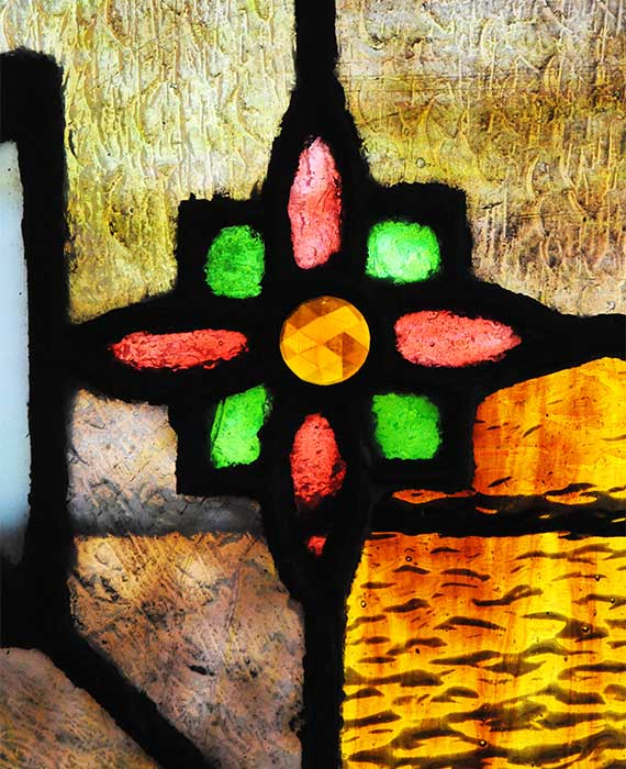 Stained Glass Window, with Jewel-Cut Accents