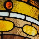 Small, Arched Stained Glass Window, with Multi-Textured Glass