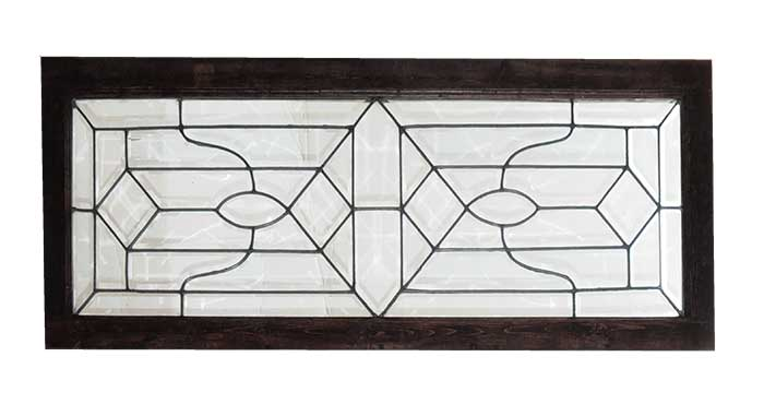 Beveled Glass Transom/Landing Window
