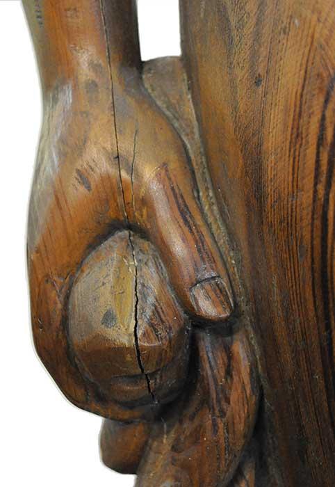 Pair of Carved Wood Lady Figures