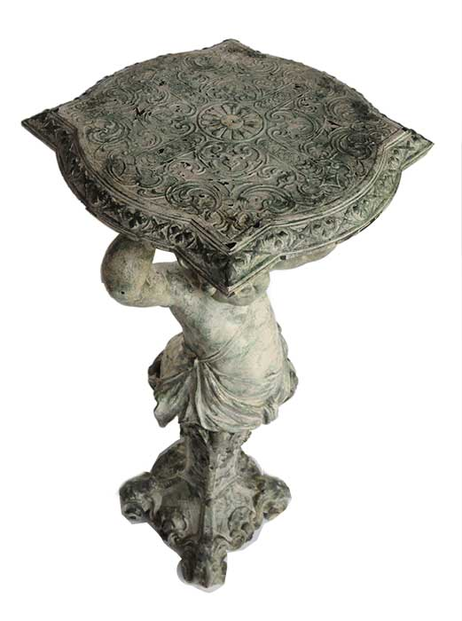 Iron Cherub Pedestal
