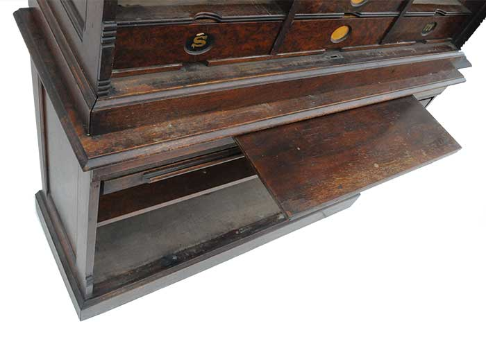 Two-Piece, 1911 Amberg Roll-top Cabinet Letter File