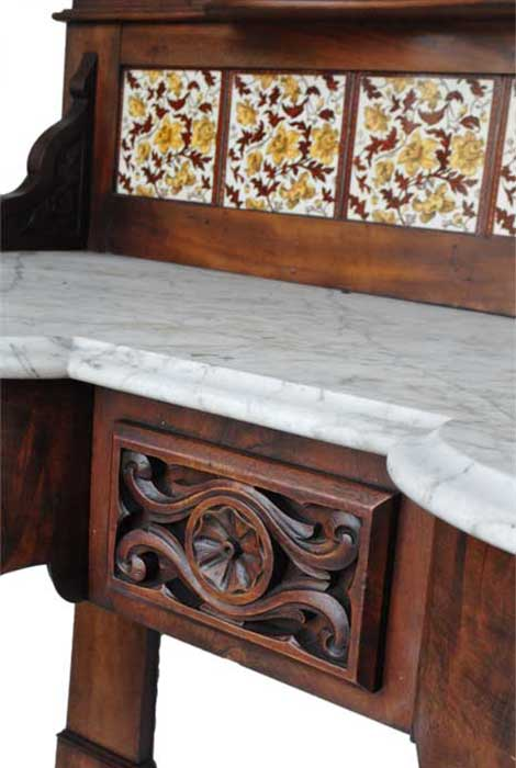 English Marble-Top Wash Stand