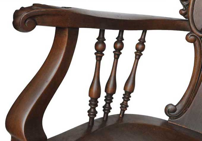 1890 Carved Two-Seat Bench, with Griffins