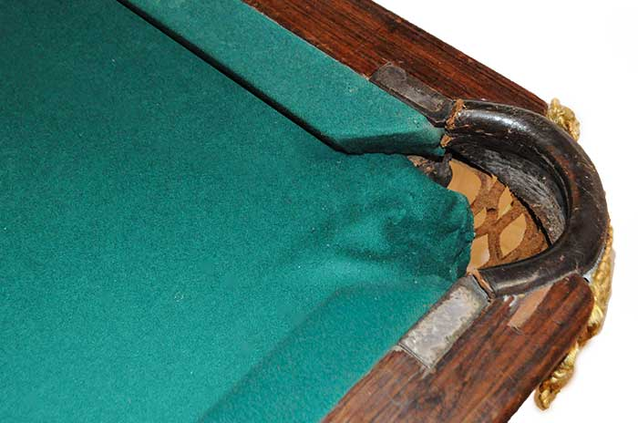 Classic Pool Table, Circa 1875, with Inlays on Trim & Legs