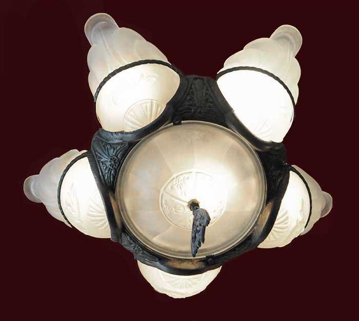 Five-Shade Art Deco Light