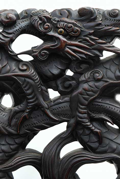 Carved Oriental Chair, with Dragon Motif