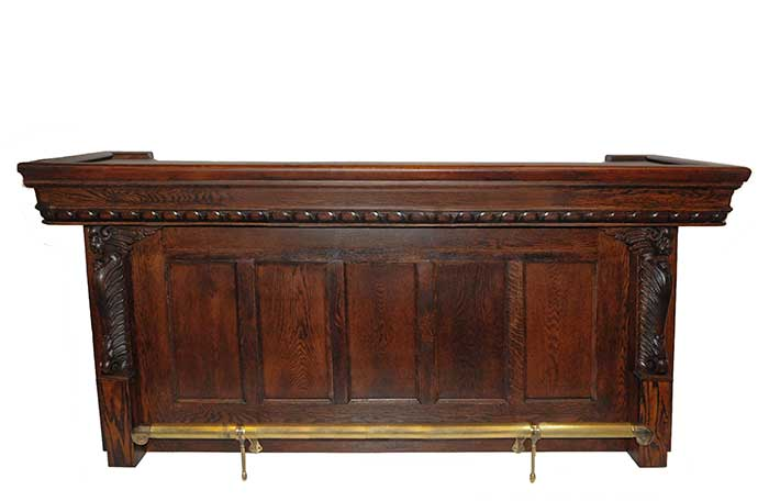 Oak Front Bar, with Griffin Columns
