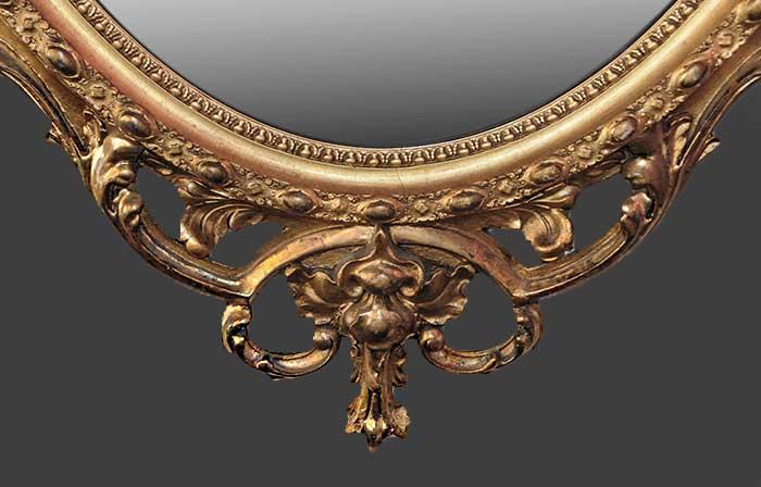Rococo Gilt Oval Mirror