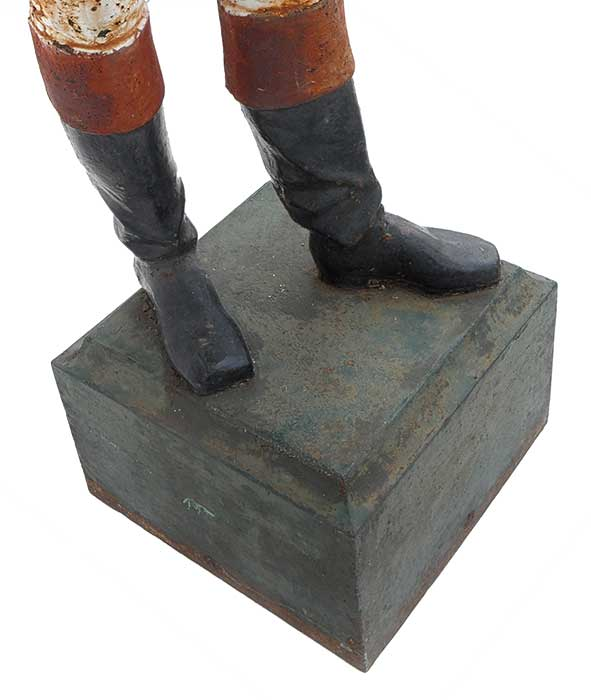 """Fiske"" New York Iron Lawn Jockey Sculpture, Circa 1900"