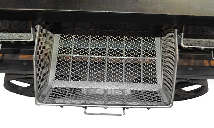 Metal Vendor's Cart, with Wire Baskets