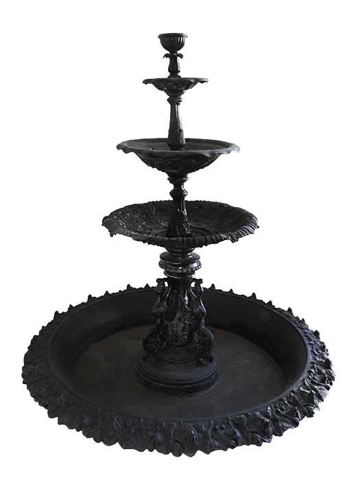 "Four-Tier ""Fiske"" Cast Iron Fountain"