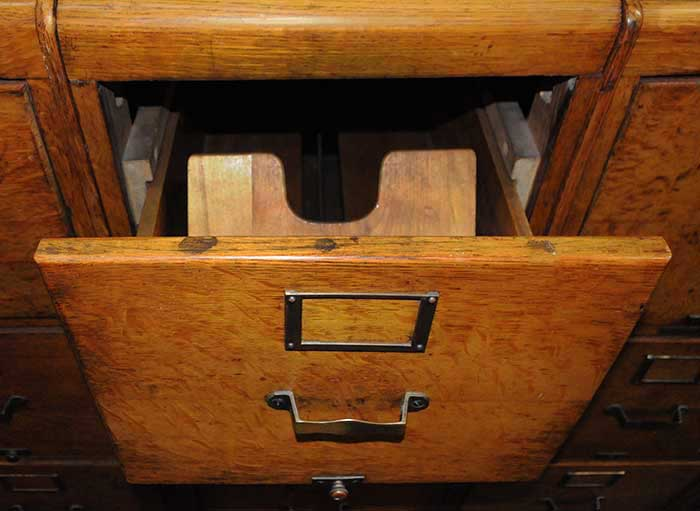 Four-Section, Four-Drawer Filing Cabinets, Circa 1880s