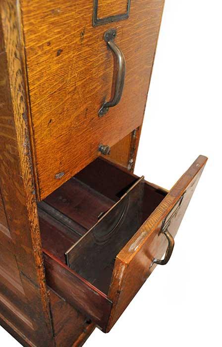 Four-Drawer Oak Filing Cabinet, Circa 1880s