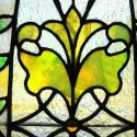 Stained Glass Window, with Jewel-Cut Accents & Oval Center