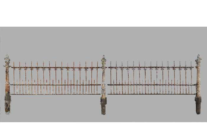 Multi-Section Set of Iron Fencing