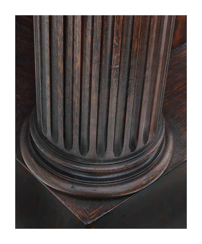 Oak Podium, with Carved Columns, Circa 1909