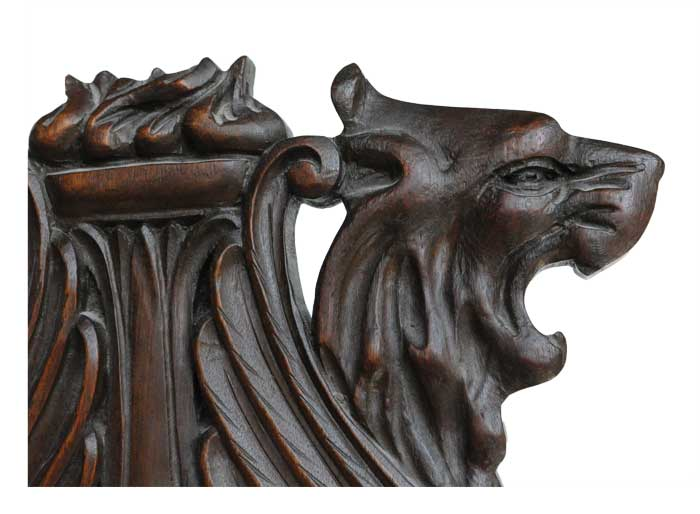 Stunning Mahogany Griffin Chair