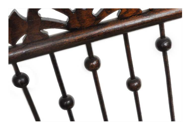 Oak Music Stand, with Lyre Emblem & Stick-and-Ball Accents