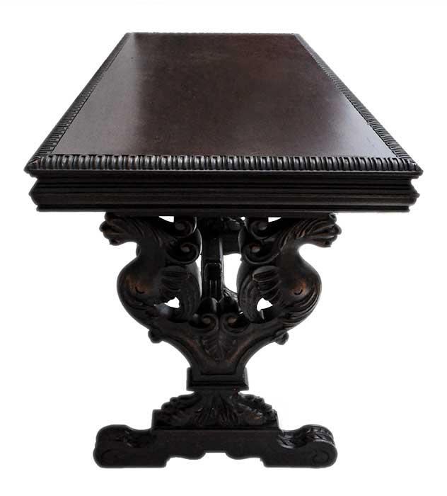 Carved Mahogany Sofa Table