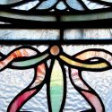 Outstanding Pair of Floral Stained Glass Windows