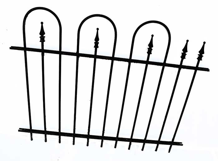 "Iron Fencing, with ""Loop & Spear"" Design"