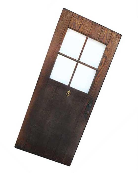 Exterior Door, with Large Inset Window