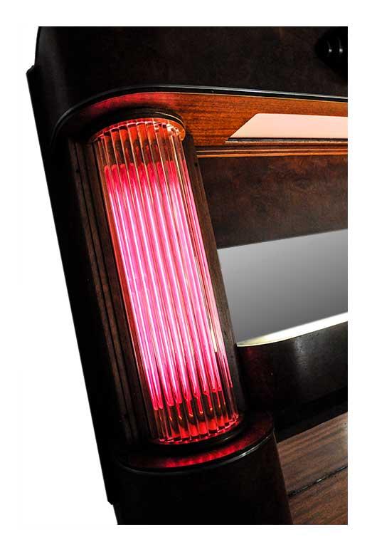 26-Foot, Illuminated Art Deco Front & Back Bar