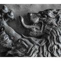 Iron Shield & Swords Set, with Lion Figure