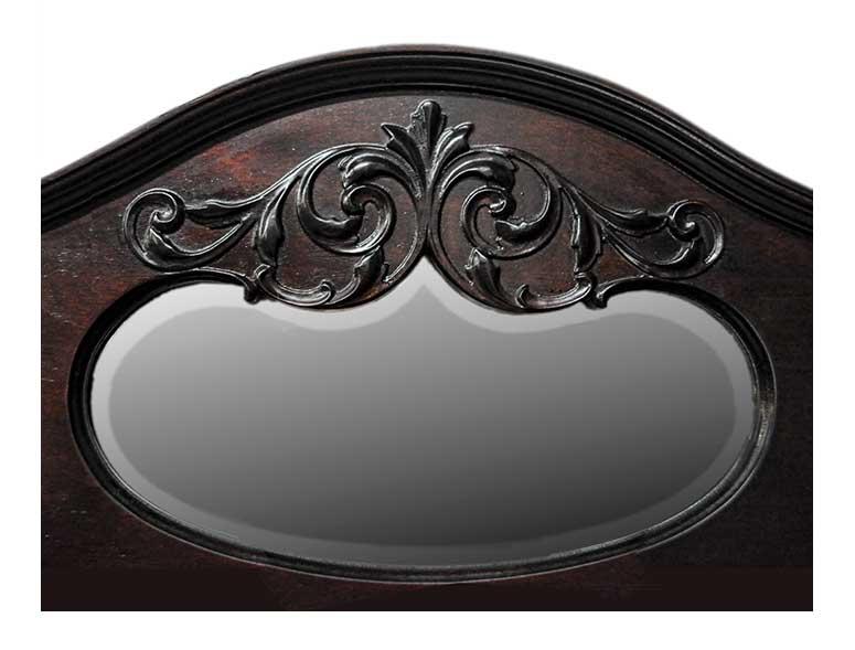 Double Mahogany Secretary, with Beveled Mirrors