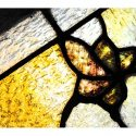 Floral Stained Glass Transom Window