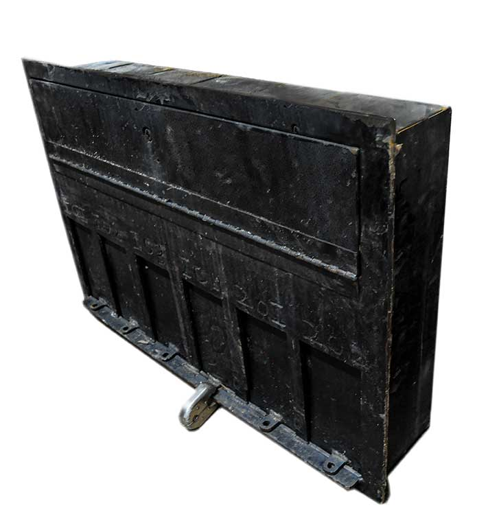 Four Painted Iron Mailbox Units