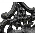 Three-Piece Set of Black Cast-Iron Railings