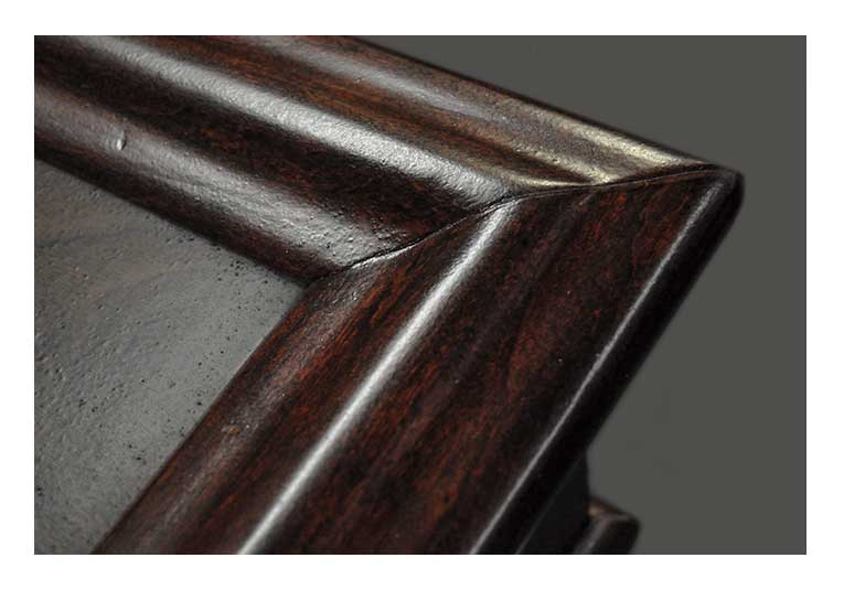 Versatile, Walnut-Mahogany Front Bar, with Carved Columns