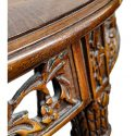 Small Carved Table, with Inlays on Tabletop