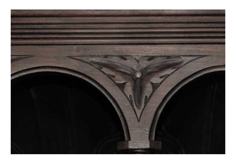 Carved Oak European-Style Cabinet