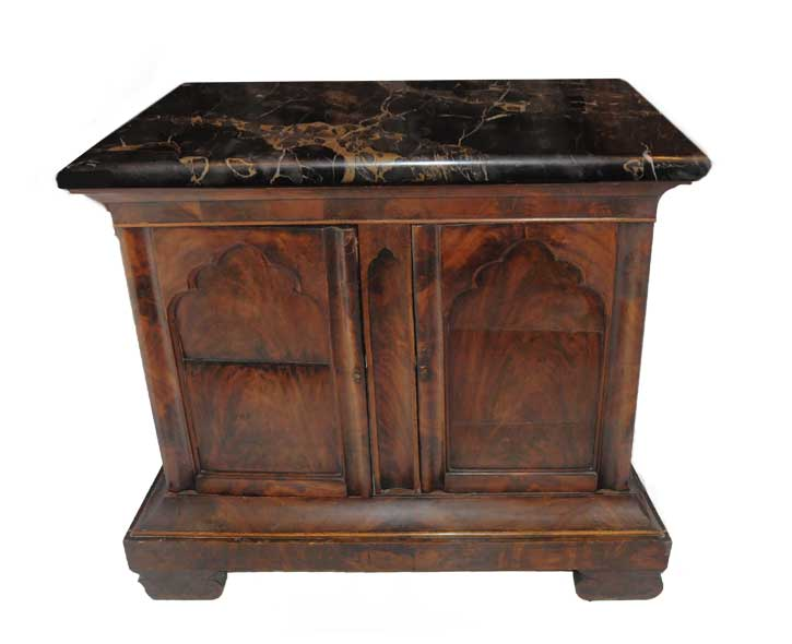 Marble-Top Gothic-Style Console, Circa 1840