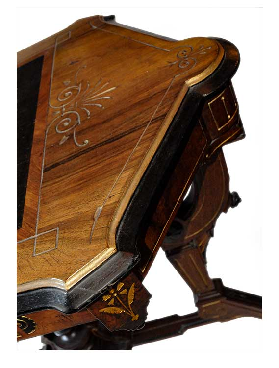 Small Renaissance Revival Side Table, with Inlays