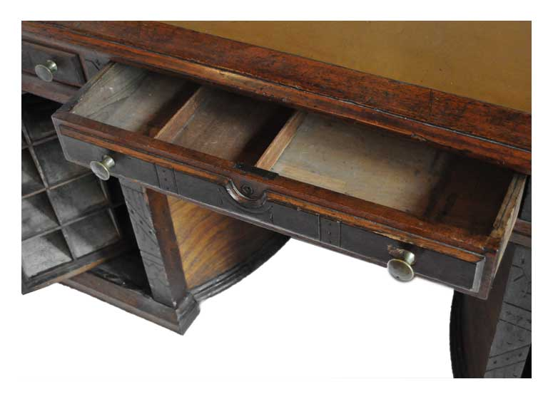 Flat-Top Wooton Desk, with Swivel Compartments