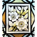 Small Painted & Fired Stained Glass Window