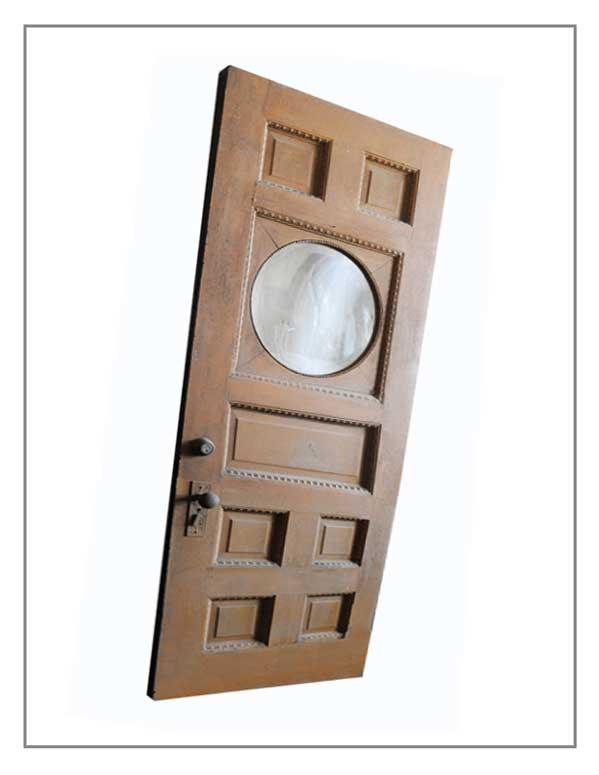 Painted Oak Door, with Oval Glass Window