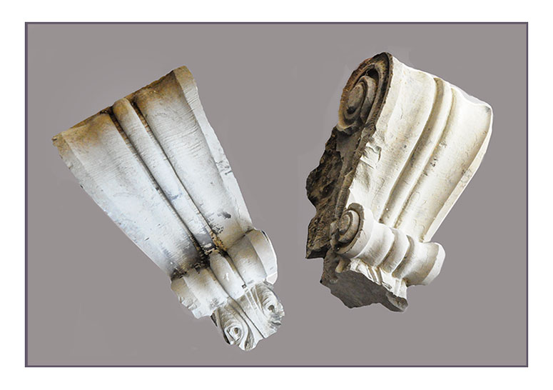 Pair of Carved Stone Corbels
