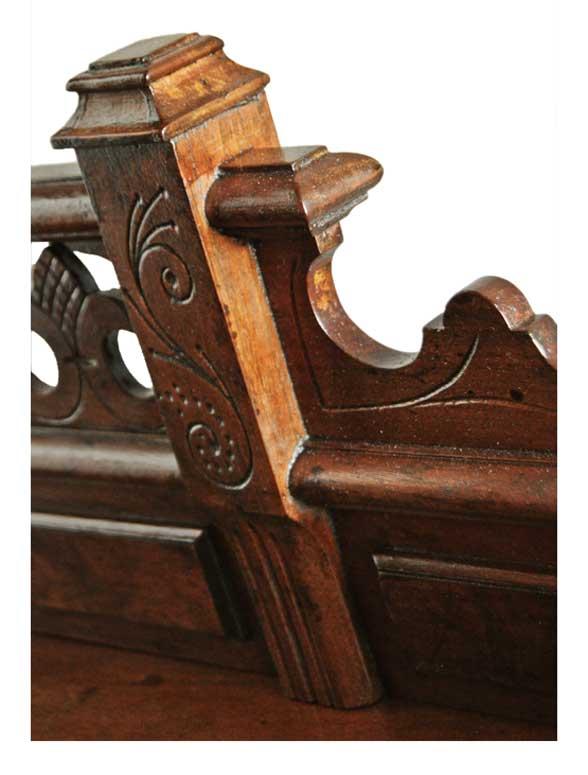 Carved Walnut Cylinder Desk